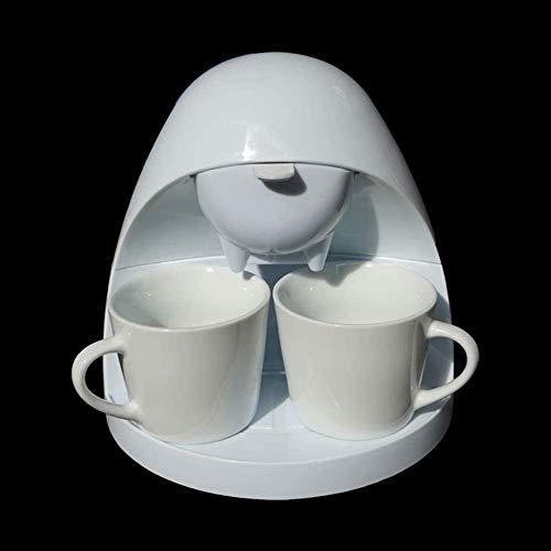 Maszyna do kawy espresso, ekspres do kawy, 350 W, półautomatyczny Drip Typ, czarno-biały na życzenie wysyłaj 2 filiżanki, kategoria produktów spożywczych PP, kolor biały