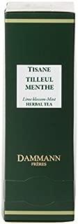 Dammann Frères - Herbal Tea Lime Blossom-Peppermint - 2 x boxes of 24 enveloped Cristal sachets (48 count / tea bags)