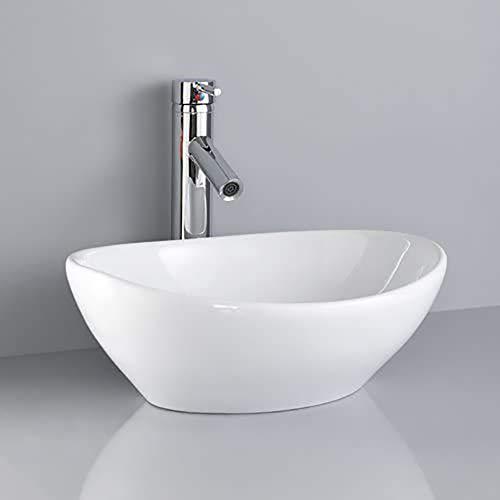 大型洗面ボウル (楕円) 陶器製 洗面ボウル 洗面ボール 手洗い鉢 洗面台 洗面鉢 手洗い器 洗面器 手洗器