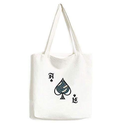 Cranes Maple Leaves Geometry - Bolsa de Mano (Lavable)