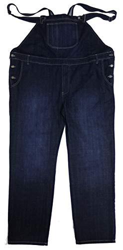 Abraxas Übergrößen Schicke Latz-Jeans mit Dehneinsätzen bequem Blau Stonewashed 8XL