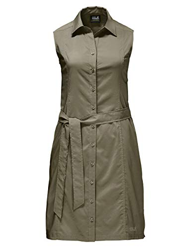 Jack Wolfskin Damen Kleid Sonora Dress, Burnt Olive, M, 1503991-5033003