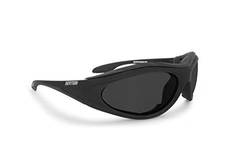 2er Pack Locs 9006 Choppers Fahrradbrille Sonnenbrille Männer Frauen schwarz