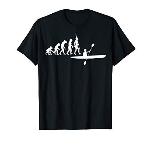 Kayak Kanu Kajak Paddeln Kayaker Evolution T-Shirt Kanuten