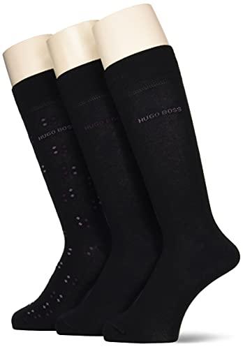 BOSS 3P RS Gift Set CC Calcetines de Vestir, Negro1, 40-46 para Hombre