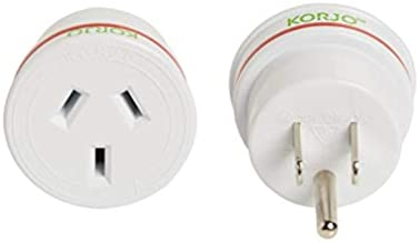 Korjo International Power Adapter, 4.2 Centimeters, White