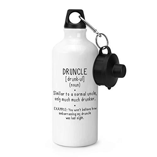 Gift Base Druncle Drunk Uncle Definition Sportflasche, 600 ml, Weiß