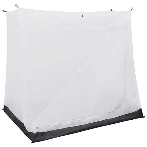 vidaXL Universal Innenzelt für Vorzelt mit Lüftungsnetz Camping Schlaf Kabine Zelt Campingzelt Schlafzelt Schlafkabine Bett Grau 200x180x175cm