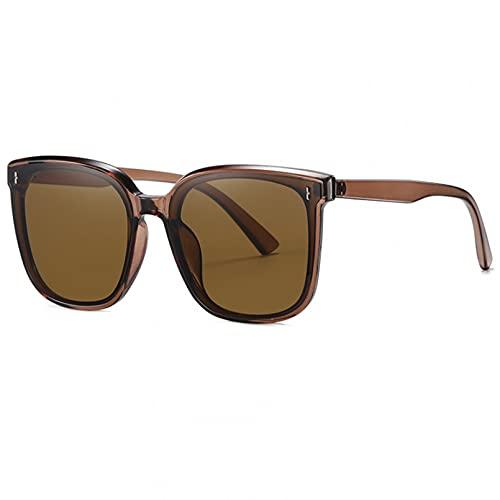 BAJIE Gafas de Sol Nuevas Gafas de Sol de Moda Montura Grande Tendencia Street Style Gafas de Sol con protección UV Lente de Nailon