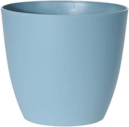 Warenfux24 /Übertopf 18 cm Blau Kunststoff Blumentopf 4 Farben