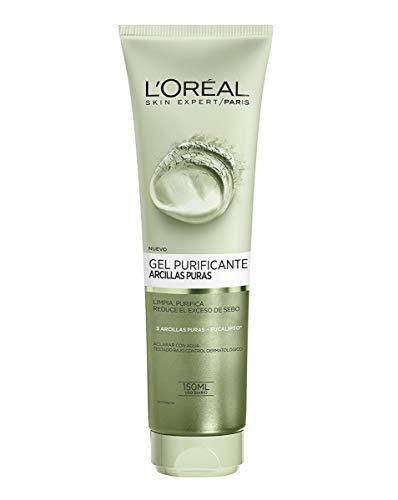 L'Oreal Paris Dermo Expertise - Arcillas puras gel limpiador purificante, color verde - 150 ml