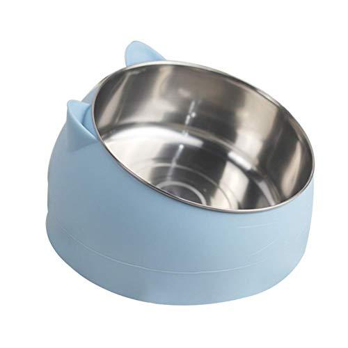 NYKK Hitze Pet Bowl Temperatur-steuerbarer Hund Wasserspender 304 Edelstahl Pet Feeder Teller für Welpen Katze Ect (Farbe: blau) lalay (Color : Blue)