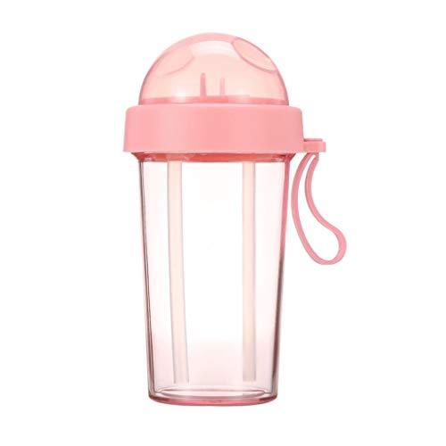 Tetera Linda botella de agua de plástico, de doble uso de la botella, la botella divertido, se divierte la botella de agua, jugo de la taza del viaje for las niñas muchachos de los niños, 20 Oz Tetera