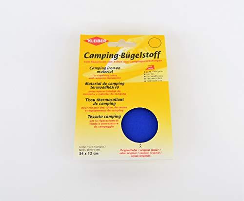 Kleiber - Parche de reparación termoadhesivo para Tiendas de campaña y toldos, 100% Lona de algodón, Color Azul Real