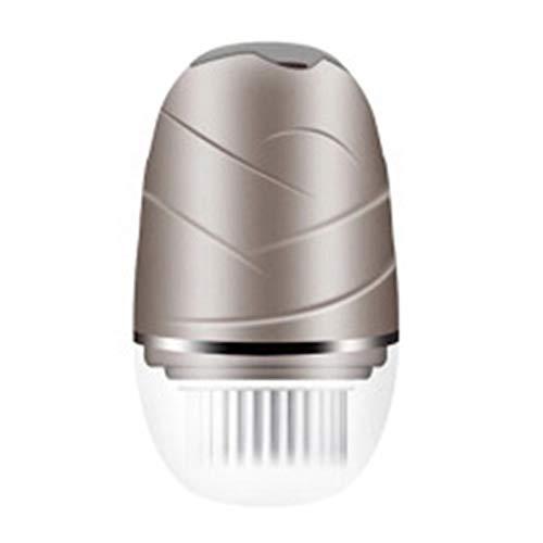 SNOWINSPRING Instrument de Nettoyage de Visage éTanche Rotatif Rechargeable USB Instrument de Lavage de Visage éLectrique Champagne Or