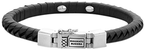 Boeddha to Boeddha - armband KOMANG klein leer zwart, 162BL-F