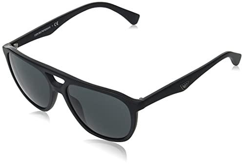 Emporio Armani Gafas de sol EA4156 500187 Gafas de sol hombre color Negro gris lente 58 mm