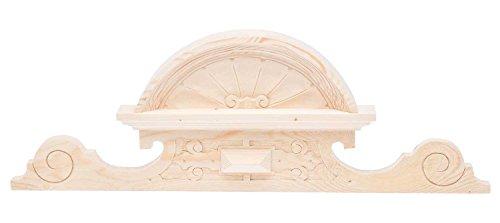 aubaho Schrankkrone Holz Schrankaufsatz Schrank Krone 24cm x 68cm Bekrönung antik Stil