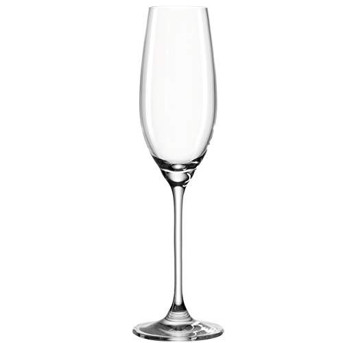Leonardo Barcelona Sekt-Gläser, Sekt-Kelch mit gezogenem Stiel, spülmaschinenfeste Champagner-Gläser, 6er Set, 200 ml, 062064