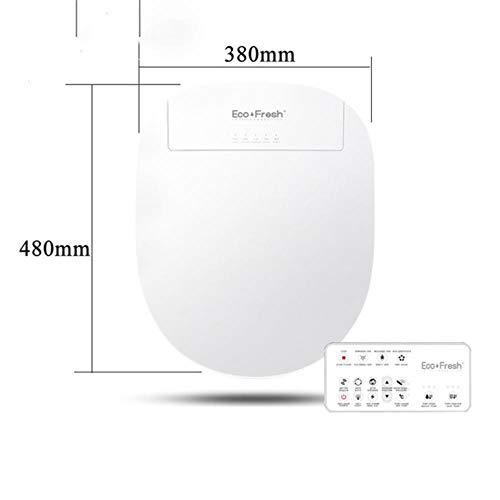 Intelligente toiletbril Elektrische bidetafdekking Smart bidet verwarmde toiletbril Led Light Wc smart toiletbril deksel, BS Russisch Engels, Verenigde Staten