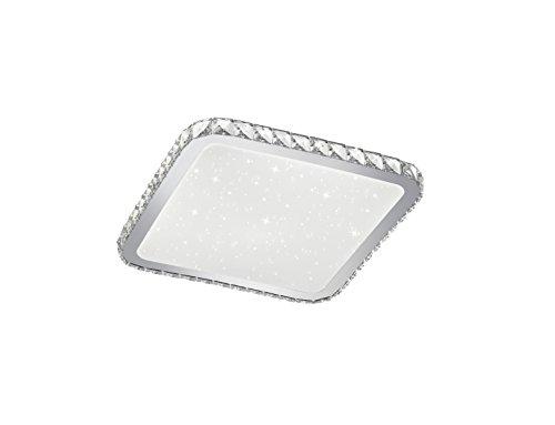 Trio Leuchten LED Deckenleuchte, Acryl, Integriert, 30 W, Acryl Weiß, 41,5 x 41,5cm