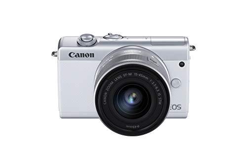 Canon EOS M200 - Cámara de 24.1 MP (EF15-45mm f/3.5-6.3 IS STM) blanco