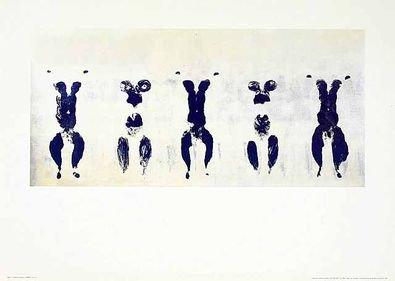 Yves Klein Poster Kunstdruck Anthropometrie. ohne Titel ANT 100 1960-70 x 50 cm