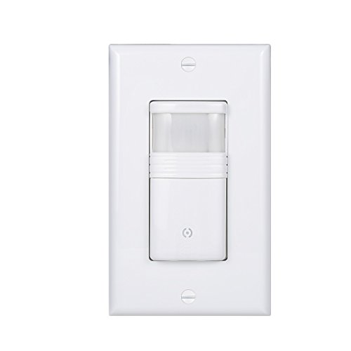 (Pack of 1) White Motion Sensor Light Switch – Neutral Wire Required – Single Pole Only (Not 3-Way) – for Indoor Use – Vacancy & Occupancy Modes – Title 24, UL Certified – Adjustable Timer