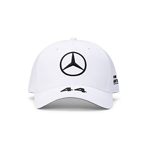 Mercedes-Benz Unisex Mercedes AMG Petronas Lewis BB Cap Baseballkappe, Weiß, Einheitsgröße