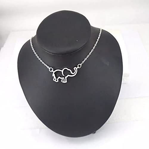 RTEAQ Moda Collar Joyas Gargantilla Collar Mujer Cadena de Color Dorado Origami Elefante Collares Pendientes para Mujer Collares de joyería Parejas Fiesta San Valentín Cumpleaños Regalos
