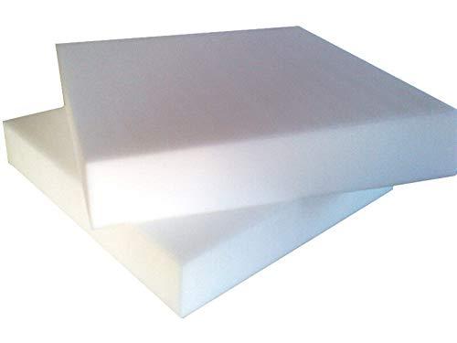vivi casa Gommapiuma per Cuscini divani Testate Letto Poliuretano espanso densità 30 Gomma (40 x 40 x 10 cm)