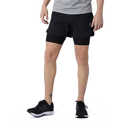New Balance Men's Q Speed Fuel 2 in 1 5 Inch Short, Black , Medium
