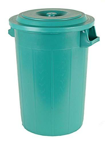 Spetebo Universaltonne 70 Liter mit Deckel und 2 Tragegriffen in grün
