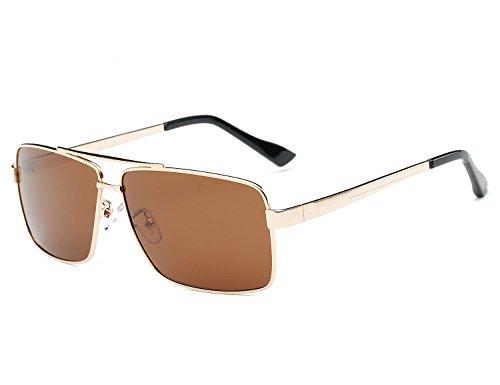 Bmeigo Polarisiert Sonnenbrille Herren Modische Brillen fahren UV400 Metallrahmen Klassisch Gläser Sports Outdoor