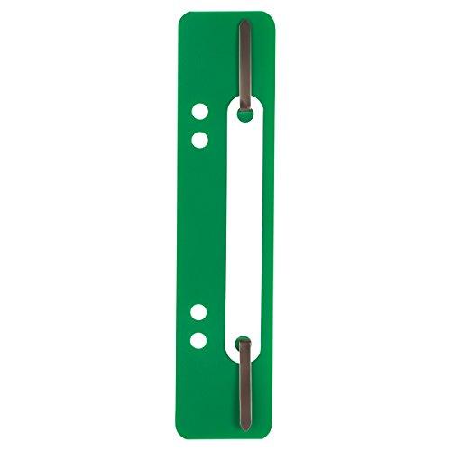 ELBA 100555012 Einhänge-Heftstreifen und Deckleiste 25er Pack aus PP grün