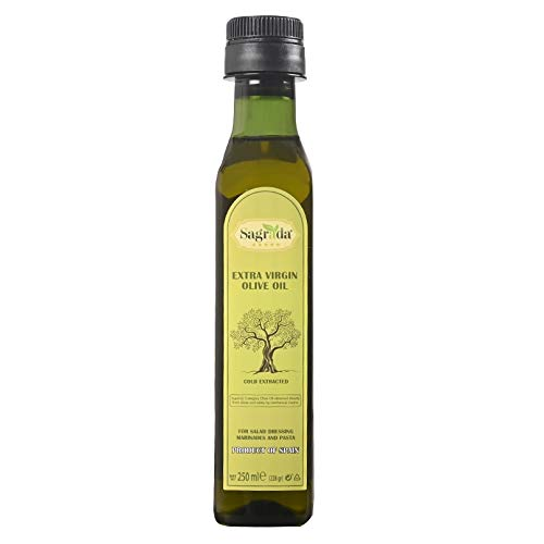 Sagrada Premium Spanish Extra Virgin Olive Oil 250ml | First-Cold Extracted | Ideal for Salads and Pastas