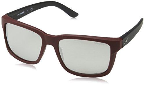 Arnette Herren 0AN4218 23256G 57 Sonnenbrille, Rot (Fuzzy Burgundy/Lightgreymirrorsilver)