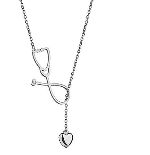 Stethoskop Halskette Edelstahl Anhänger Mit Herz Für Doktor Medizinstudent Geschenk Der Doktor Krankenschwester Schmuck