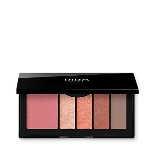 KIKO Milano Smart Eyes and Cheeks Palette Paleta para ojos y rostro con 1 colorete y 4 sombras