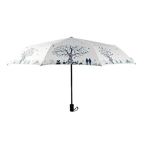 Kreativer kleiner frischer Regenschirm Manueller transparenter Regenschirm Automatischer Regenschirm Dreifacher Regenschirm 8K A.