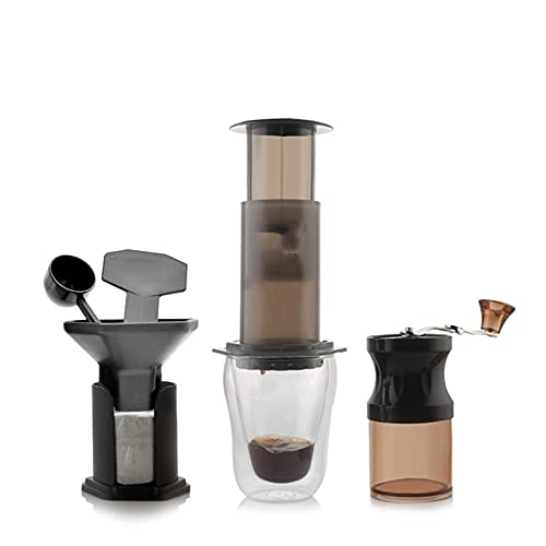 Przenośny ekspres do kawy, młynki do kawy mielenie i zaparzanie ekspresy do kawy Ręczny młynek do kawy Ekspres do kawy Ręczny ekspres do kawy Ręczny ekspres do kawy Przenośny mieszek włosowy (kolor: b