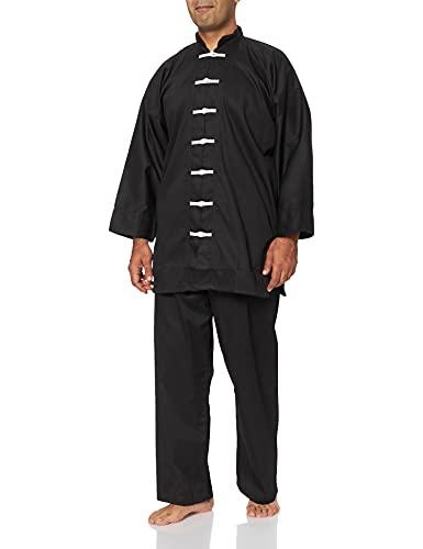 DEPICE - Traje de Kung-fu Chino, Color Negro Negro Negro Talla:180 cm