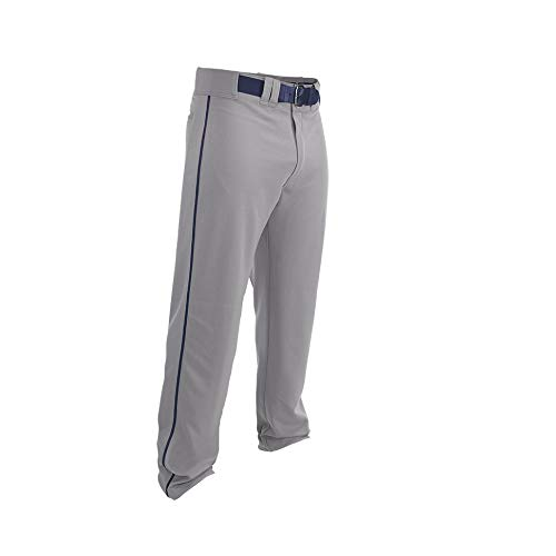 EASTON RIVAL 2 Baseball Pant, Adult, Large, Grey/Navy