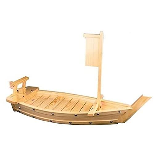 YBSY Barco de Sushi, Cocina Japonesa y Coreana Bandeja para Servir Sushi Sashimi de bambú Plato de Barco Dragón (80 cm / 31,4 Pulgadas)