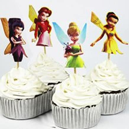 Amazon TinkerBell Cupcake Toppers Birthday Party Disney Tinkerbell Fairies Favors Pack Of 24 Health Personal Care