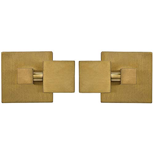 Square Brushed Gold Pivot Mirror Hardware Tilting Anchors for Mirror or Picture -