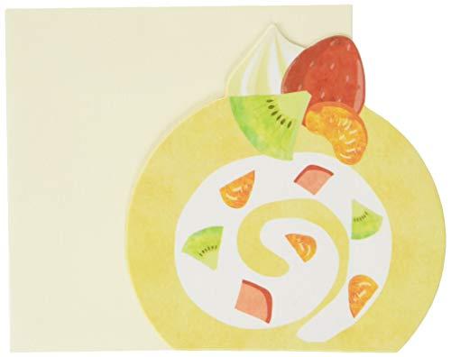 [メッセージカード 封筒セット ×3セット]フルーツロールケーキ