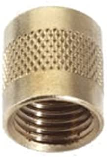 C&D Valve CD2245 1/4 flare cap, round brass w/ neoprene o-ring seal (pack of 25 caps)