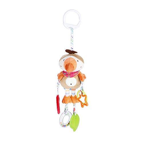 Naroote Plüschtier,Cartoon Plüschtier Weiche s?uglingspl¨¹schtier niedlichen Tier rassel Baby Bett Kinderwagen h?ngen Puppe Ring Glocke(Parrot)