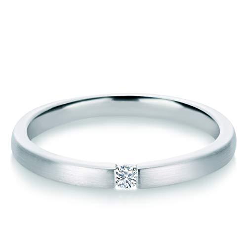 Tresor 1934 Damen-Ring Diamant 0,05 Weißgold Spannring Diamantring Verlobungsring